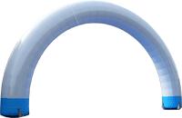 エアーアーチ、間口10m×太さ1.5m製作