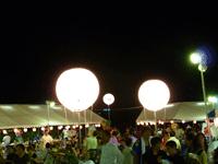 夜用の照明バルーン