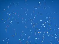 エコ風船で風船リリース